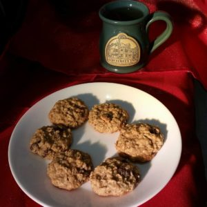 Ash Street Inn coffee mug and plate of cookies